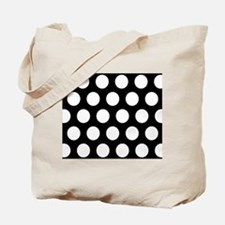 # Black And White Polka Dots Tote Bag