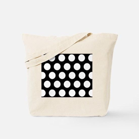 # Black And White Polka Dots Tote Bag