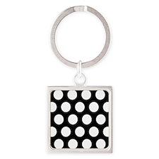 # Black And White Polka Dots Keychains