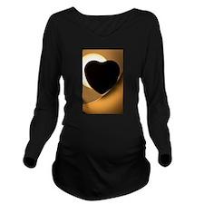 Love heart shape sil Long Sleeve Maternity T-Shirt