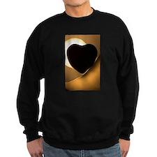 Love heart shape silhouette abst Sweatshirt