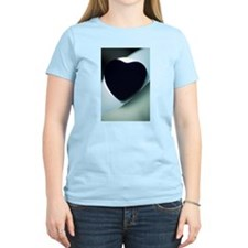 Love heart shape silhouette abstract photo T-Shirt