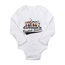 The Peanuts Gang Baseb Long Sleeve Infant Bodysuit