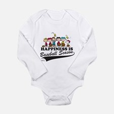 The Peanuts Gang Baseb Long Sleeve Infant Bodysuit