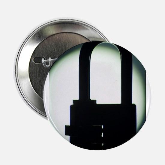 "Combination code padlock silhouette p 2.25"" Button"