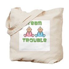 Twins Boy Girl Tote Bag