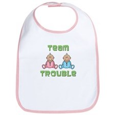 Twins Boy Girl Bib