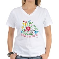 Snoopy Spring Women's V-Neck T-Shirt