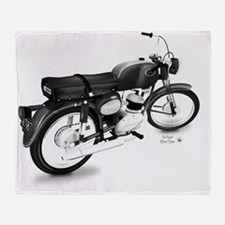 Vintage 125cc Cobra Motorcycle Throw Blanket