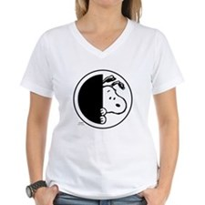 Sneaky Snoopy Women's V-Neck T-Shirt