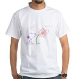 Snoopy Mens White T-shirts