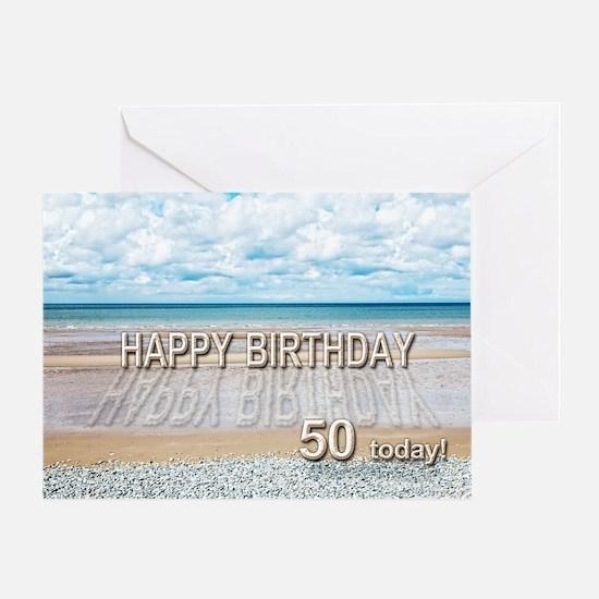 50Th Birthday Beach 50th Birthday Beach Greeting Cards – Greeting Cards for 50th Birthday