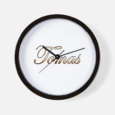 Gold Tomas Wall Clock