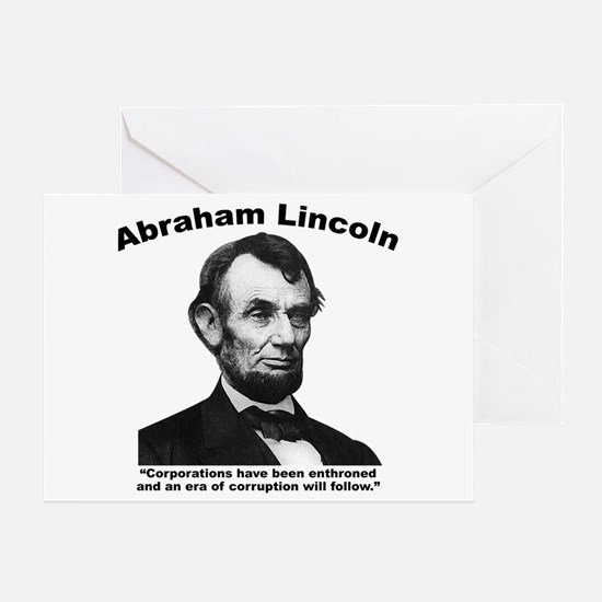 Lincoln: Corps Greeting Card