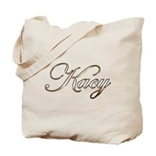 Gold Kacy Tote Bag
