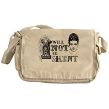 I Will Not Be Silent Messenger Bag