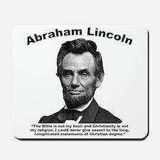 Lincoln: Bible Mousepad