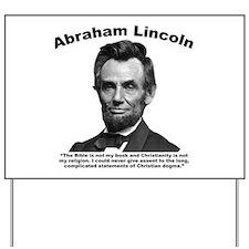 Lincoln: Bible Yard Sign