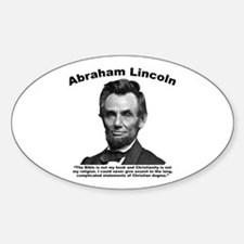 Lincoln: Bible Sticker (Oval)