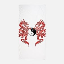 Dragons (W).png Beach Towel