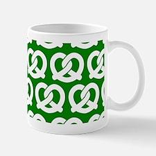 Green and White Twisted Yummy Prestzels Mug