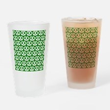 Green and White Twisted Yummy Prest Drinking Glass
