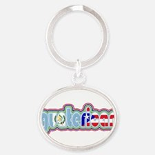 Cute Multiracial Oval Keychain