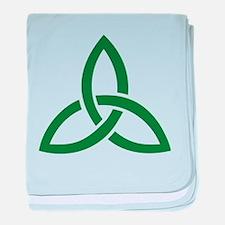 Celtic knot baby blanket