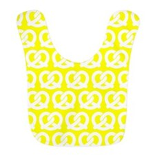 Yellow and White Twisted Yummy Prestzels Patte Bib