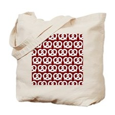 Red and White Twisted Yummy Prestzels Pat Tote Bag