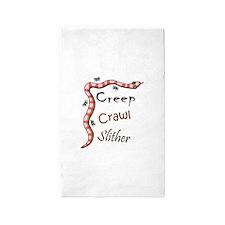 Creep Crawl Slither Area Rug