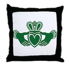 Celtic claddagh Throw Pillow