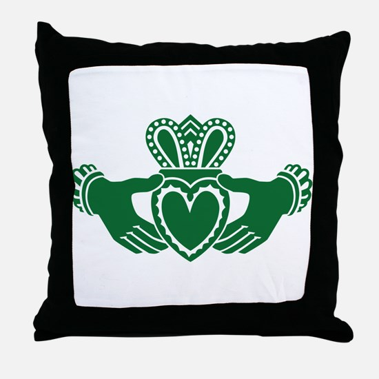 Celtic claddagh Throw Pillow