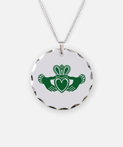 Celtic claddagh Necklace Circle Charm