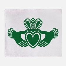 Celtic claddagh Throw Blanket