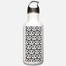 Gray and White Twisted Water Bottle