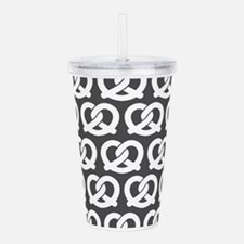 Gray and White Twisted Acrylic Double-wall Tumbler