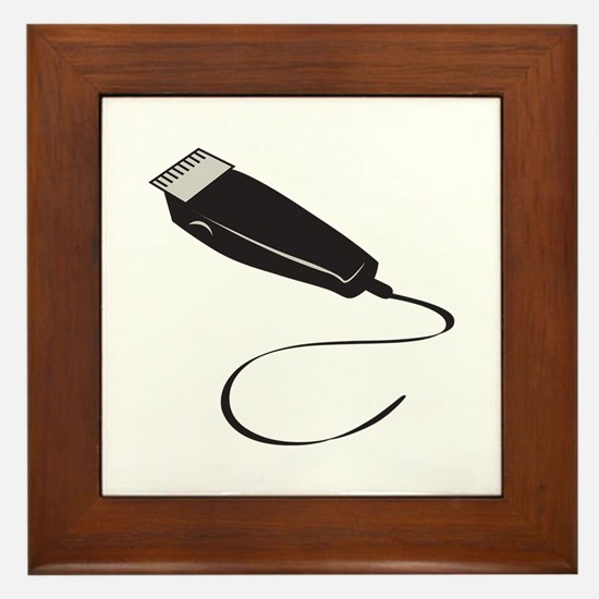 HAIR SHEARS Framed Tile