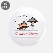 "TODAYS MENU 3.5"" Button (10 pack)"
