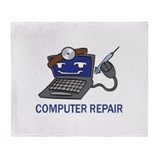 COMPUTER REPAIR Throw Blanket
