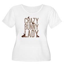 Crazy Bunny Lady Plus Size T-Shirt