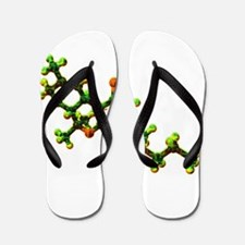 THC Molecule Flip Flops