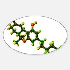 THC Molecule Decal
