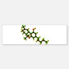 THC Molecule Bumper Bumper Bumper Sticker