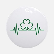 Shamrock frequency Ornament (Round)