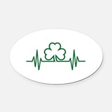 Shamrock frequency Oval Car Magnet