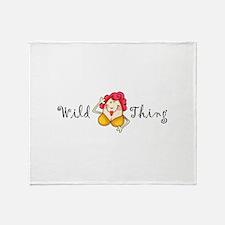 WILD THING Throw Blanket