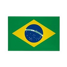 """Brazil Flag"" Rectangle Magnet (10 pack)"