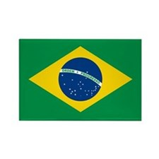 """Brazil Flag"" Rectangle Magnet"