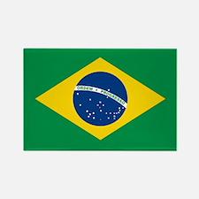 """""""Brazil Flag"""" Rectangle Magnet"""